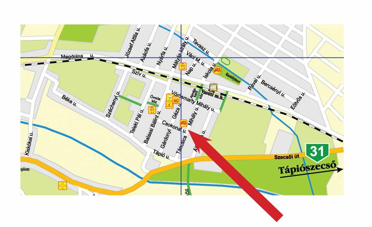 sülysáp térkép Szerdától ideiglenesen elköltözik a piac! sülysáp térkép
